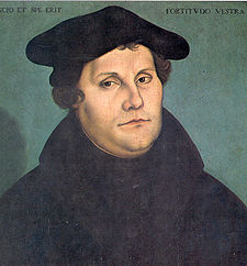 Martin Luther in 1533 by Lucas Cranach ( and current political example)